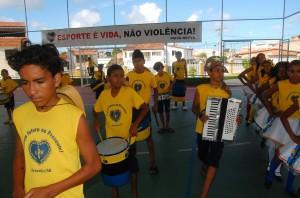 Alunos apresentam musical na LBV Foto: Augusto Santorini